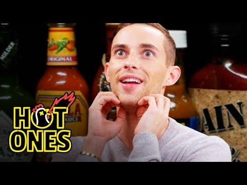 Adam Rippon Competes in the Olympics of Eating Spicy Wings Hot Ones