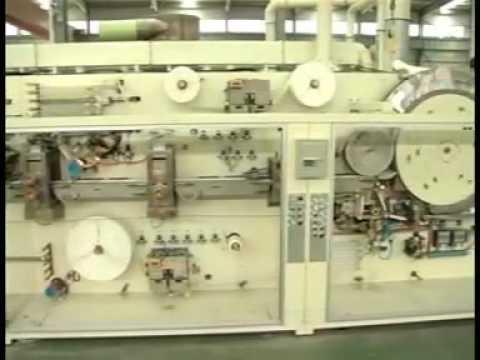 Kotex sanitary pads making machine with stacker and packing machine