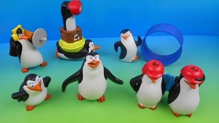 2014 PENGUINS OF MADAGASCAR SET OF 6 McDONALD'S HAPPY MEAL MOVIE TOY'S VIDEO REVIEW