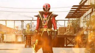 Takeru se transforma en Gedoshu ShinkenRed | Sentai Goseiger vs Shinkenger [2]