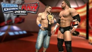 WWE Smackdown Vs. Raw 2010 Road To Wrestlemania Ft. John Cena & Triple H Part 1 -