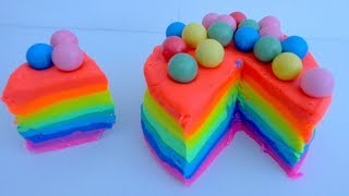 Play-Doh! Learn Colors with Play Doh Rainbow Cake with Colour Gumball