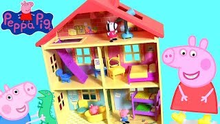 Huge Peppa Pig Lights N' Sounds Family House with 7 Rooms for Pig George Daddy and Mommy by Funtoys