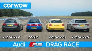 Audi RS4 generations DRAG RACE, ROLLING RACE & review   carwow