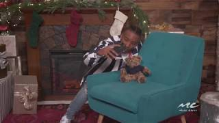 Algee Smith Befriends a Teddy Bear