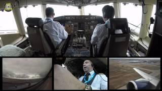 Azerbaijan Airlines B757 Takeoff Baku - Nakhchivan Cockpit view! [AirClips]