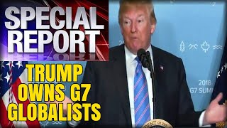 LIKE A BOSS: Donald Trump walks up to the podium and OWNS every G7 Globalist in the room