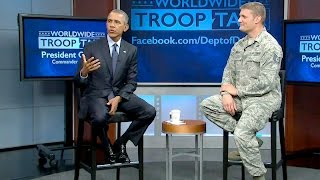 The President Holds a Town Hall with Service Members