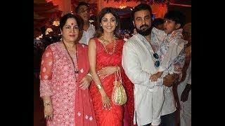 Shilpa Shetty and family at ISCKON Janmashtami celebration