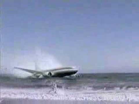 accidente de un avion en la playa