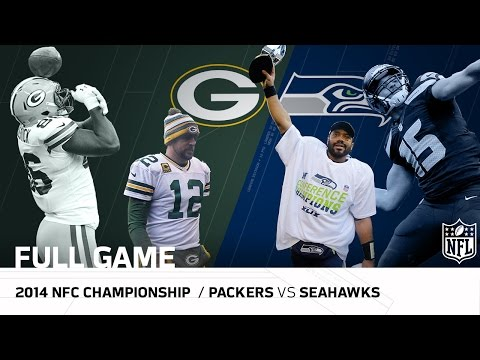 Packers vs. Seahawks 2014 NFC Championship Game Aaron Rodgers vs. Russell Wilson NFL Full Game