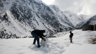 ENJOYED HEAVY SNOWFALL AT CHAPROTE VALLEY - GILGIT BALTISTAN - PAKISTAN