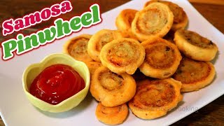 Samosa Pinwheel | Aaloo Ki Bhakarwadi | Evening Snacks or Party Appetizer Recipe