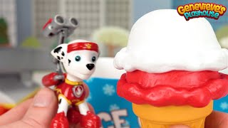 Learn Colors for Kids with Paw Patrol and Ice Cream Toys - Best Kid learning Toy Video!