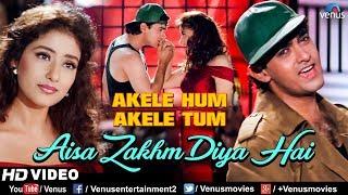 Aisa Zakhm Diya Hai - HD VIDEO SONG | Aamir khan & Manisha| Akele Hum Akele Tum| 90
