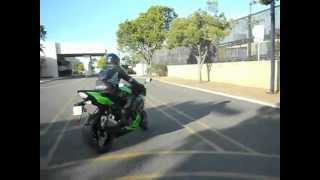 California Motorcycle skills test on a Sportbike