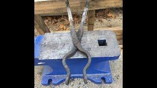 Beginner Rebar Blacksmith Tongs