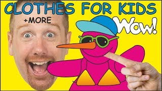 Clothes for Kids + MORE English Stories for Kids from Steve and Maggie | Learn with Wow English TV