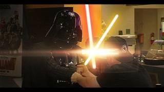 Darth Vader at the movies.