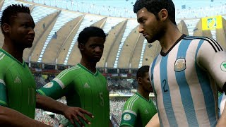 FIFA World Cup 2014: Argentina vs Nigeria (Group F) Simulation (EA FIFA World Cup 2014 Brazil)