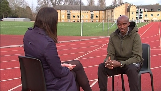 Sir Mo Farah interview with Amy Lewis - 16.02.2017