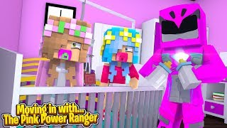 MOVING IN WITH...THE PINK POWER RANGER! w/Little Carly (Minecraft).