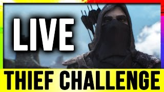 Skyrim Live - Thief Challenge Build! (Lets Play Walkthrough)!