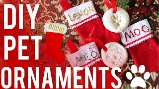 DIY Pet Christmas Ornaments | Paw Prints & Stockings