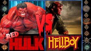 Red Hulk (Marvel Comics) vs Hellboy (Dark Horse Comics) - Ultimate Mugen Fight 2016