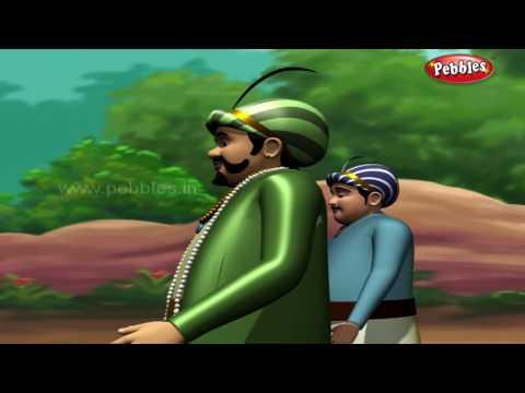 Blind People   मराठी कथा   3D Birbal Moral Stories For Kids in Marathi   Akbar Birbal Stories