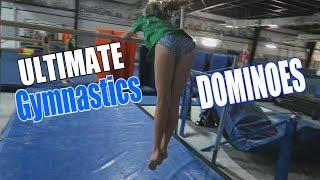 The Ultimate Gymnastics Domino Challenge  Rachel Marie