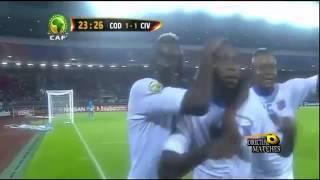اهداف مباراة ساحل العاج وجمورية الكونغو 3-1 نصف نهائي كأس امم افريقيا 2015