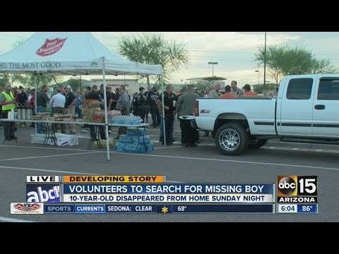 Volunteers to search for missing boy from Buckeye