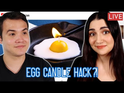 """Testing More Clickbait Candle """"Hacks"""" Live"""