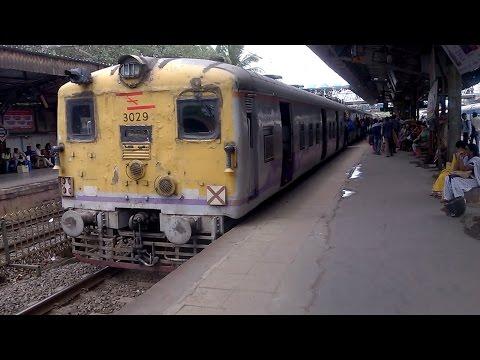 Old Retrofiited EMU, Borivali- Churchgate slow local train pulls out of Malad
