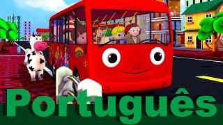 As rodas do ônibus v2 | canções infantis | LittleBabyBum