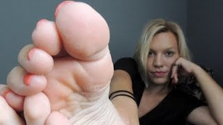 Stacey's FOOT FETISH show  - her sexy feet soles and toes are getting dangerous