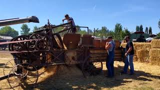 Wheat Threshing And Baling At The 2018 Great Oregon Steamup