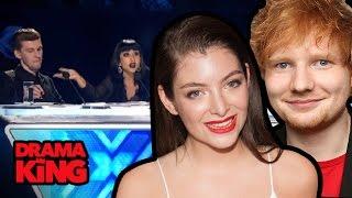 Ed Sheeran & Lorde Slam X-Factor Bullies Natalia Kills Willy Moon (DRAMA KING)