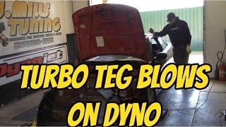 Ebay Turbo Integra Blows on Dyno