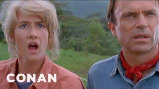 "Jeff Goldblum's Iconic ""Jurassic Park"" Scene  - CONAN on TBS"