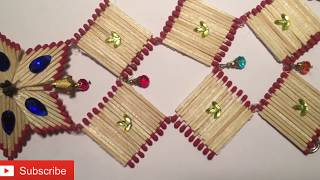 DIY Matchstick wall hanging at home I Home decor I by a art |