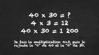 Multiplier un nombre entier par un multiple de 10, 100, 1000