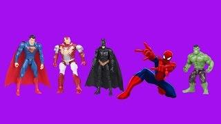 Superheroes Finger Family Song - Superman, Batman, Spiderman, Hulk & more!