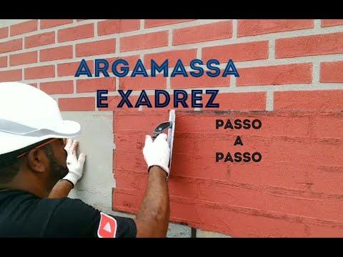 ARGAMASSA E XADREZ EFEITO TIJOLINHO PASSO A PASSO