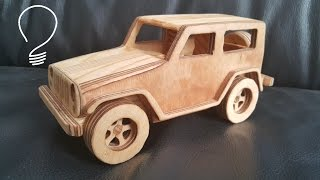 Making Jeep Wrangler Toy Car