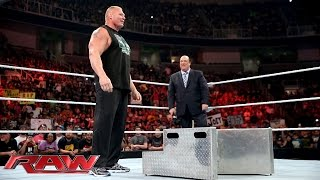 Brock Lesnar and Paul Heyman send a message to The Undertaker: Raw, Aug. 3, 2015
