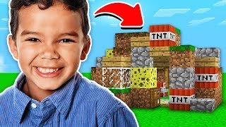 A 11 YEAR OLD MADE THIS MINECRAFT MAP!