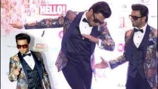 Ranveer Singh crazy antics on the red carpet of Hello Hall of Fame Awards 2018