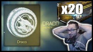 TITANIUM WHITE DRACOS! ($170 WHEELS) | ROCKET LEAGUE 20+ NITRO CRATE OPENING